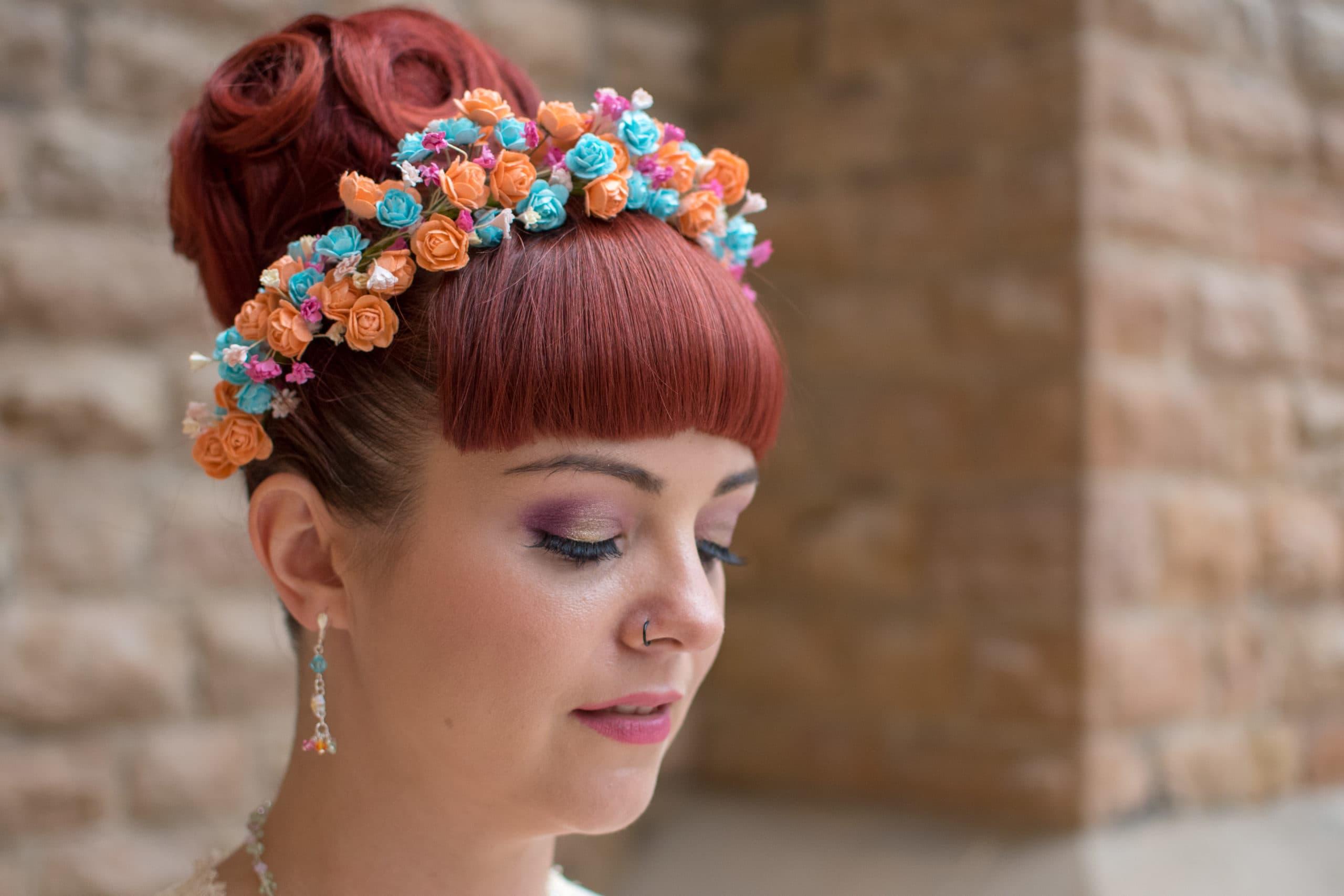 The beautiful work of a Nottingham wedding makeup artist